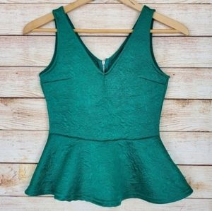 DIVIDED Green V Neck Fit and Flare Blouse